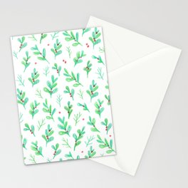 Under the Mistletoe Stationery Cards