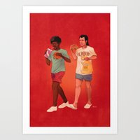 pulp fiction Art Prints featuring Pulp Fiction by Dave Collinson