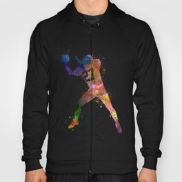 american football player man catching receiving silhouette Hoody