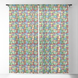 Stained-glass Sheer Curtain