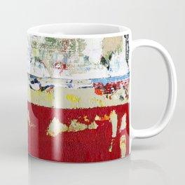 Ragged Glory Red Abstract Landscape Coffee Mug
