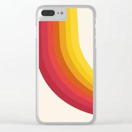 4-Sho - retro 70s style throwback vibes 1970's trendy decor art minimalist rainbow stripes Clear iPhone Case