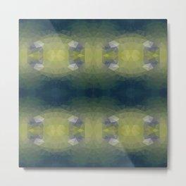 Mozaic design in green colors Metal Print