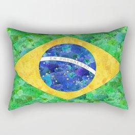 BRASIL em progresso Rectangular Pillow
