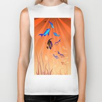 under the sea Biker Tanks featuring Under The Sea by Robin Curtiss