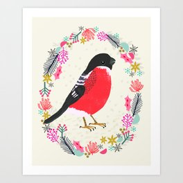 Bullfinch by Andrea Lauren  Art Print