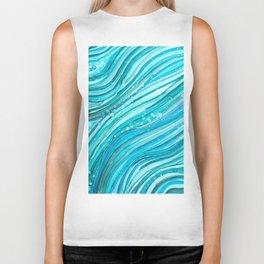 Ocean Waves Biker Tank