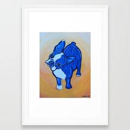 Blue Boston Framed Art Print