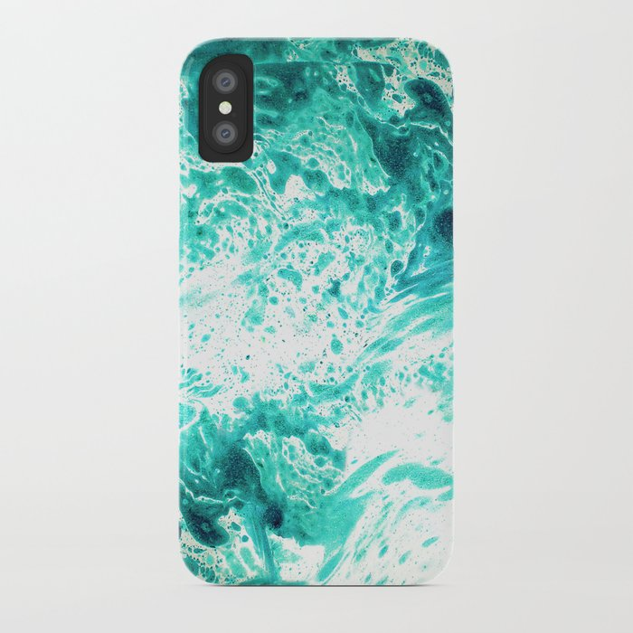 Teal Marble Iphone Case By Jennadavis Society6