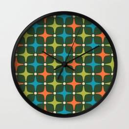 Mid Century Modern Star Pattern 934 Wall Clock