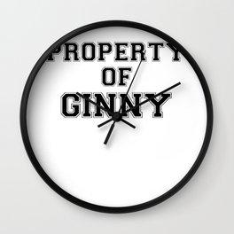 Property of GINNY Wall Clock