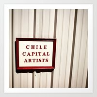 chile Art Prints featuring chile capital by rc growl