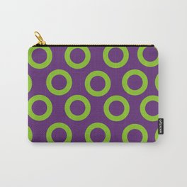Fishman Donuts Purple and Green Donuts Carry-All Pouch