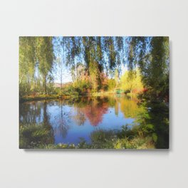 Dreamy Water Garden Metal Print