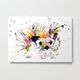 Prickles the Rainbow Hedgehog Metal Print