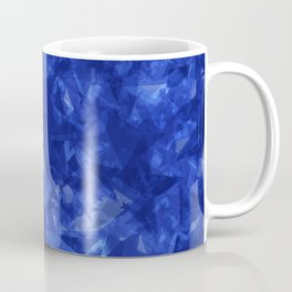 Dark pastel variegated blue stars in the projection. Coffee Mug