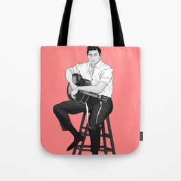 Young Johnny Cash Tote Bag