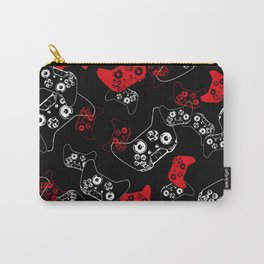 Video Game Red on Black Carry-All Pouch