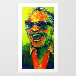 Laughed Ray Art Print