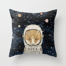 little space fox Throw Pillow
