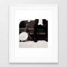 banjo man Framed Art Print