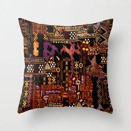 Ethno-jazz Throw Pillow