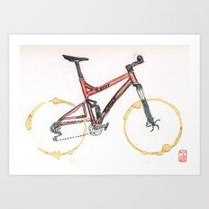 Coffee Wheels #12 Art Print