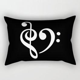 Music Clef Bass Rectangular Pillow
