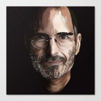 steve jobs Canvas Prints featuring Steve Jobs by Misha Libertee