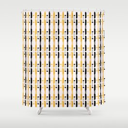 Circuit Board Style Stripes Shower Curtain