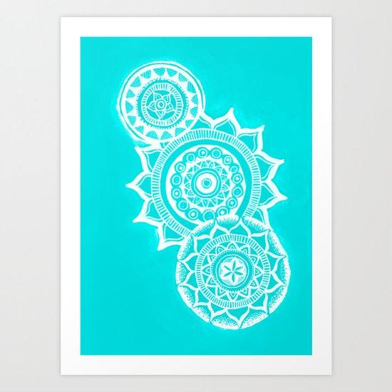 The blue mandalas Art Print