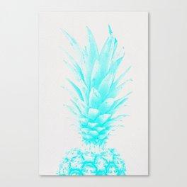 Blue Pineapple Xerox Watercolor  Canvas Print