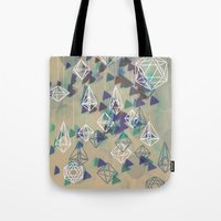 crystals Tote Bags featuring crystals by Sil-la Lopez