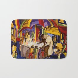 Ices by Jacob Lawrence African American Masterpiece Bath Mat
