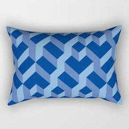 Blue Fresh Pattern Rectangular Pillow