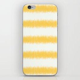 Ikat Stripe Yellow iPhone Skin
