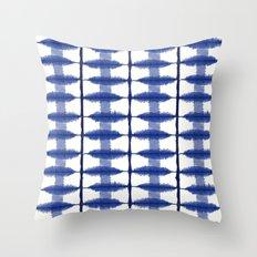 Indigo Stripe Throw Pillow