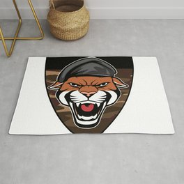 Puma Head military emblem Rug