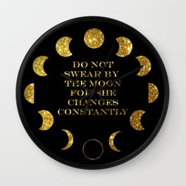 Moon Phases Gold Wall Clock