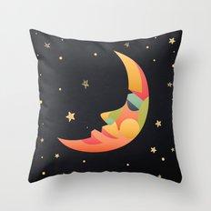 Imaginative Moon Throw Pillow