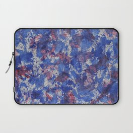 Blue and Red Watercolor on White Background Laptop Sleeve
