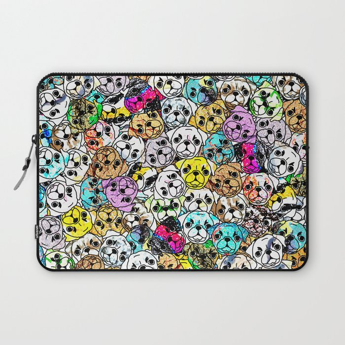 Gemstone Pugs Dogs Laptop Sleeve