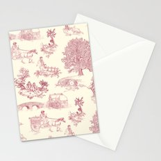 Shire Toile - Red Stationery Cards