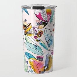 Flowers in the Wind Travel Mug
