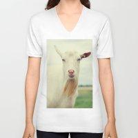 goat V-neck T-shirts featuring Goat by Falko Follert Art-FF77
