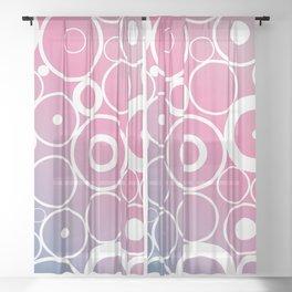 Retro circles with a modern twist Sheer Curtain