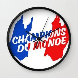 World Champions French Soccer Football Wall Clock