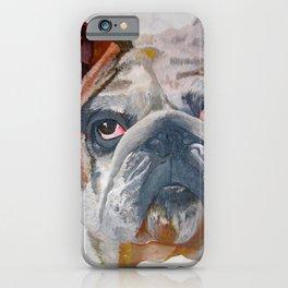 American Bulldog Artistic Pet Portrait iPhone Case