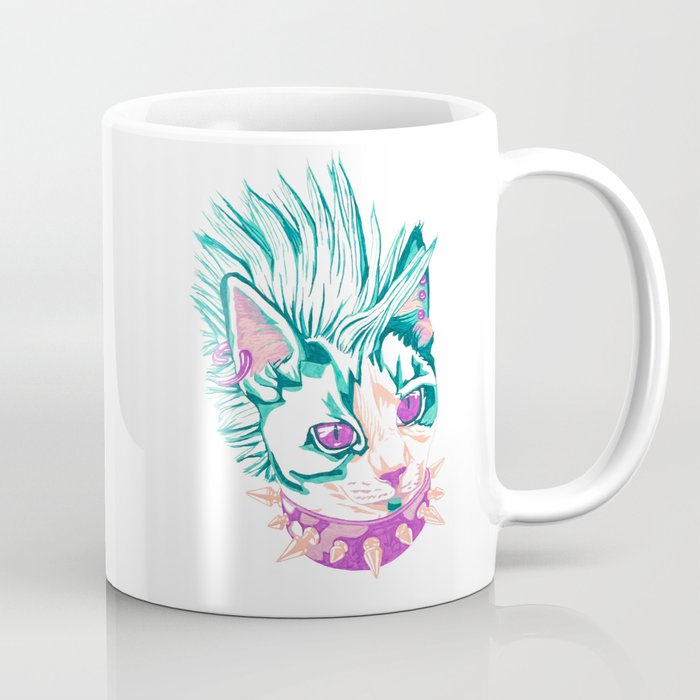 Punk Cat Coffee Mug