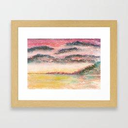 Ethereal Landscape Watercolor Illustration Framed Art Print